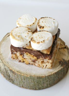 S'mores Rice Krispies Treats {Recipe} - Glorious Treats