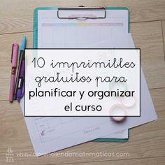 AYUDA PARA MAESTROS: 10 imprimibles gratuitos para planificar y organiz...