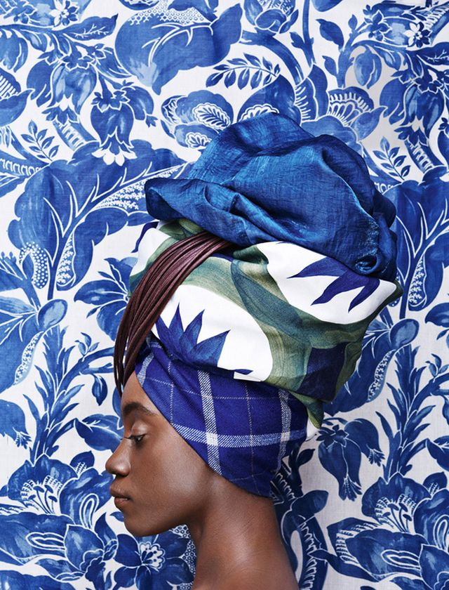 Head Wrapped by Lauren in Editorials All wrapped up with interior and upholstery fabrics for Architectural Digest Russia