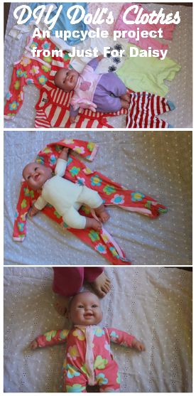 Tutorial: Easiest Handmade Doll's Clothes - Here's a sneak peak at a quick DIY I'm doing to make doll's clothes for Christmas gifts!!