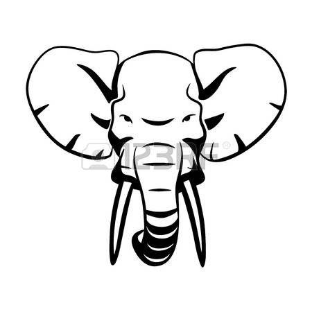 olifant tekening: Dit is een illustratie van de olifant hoofd