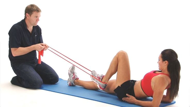 Hamstring exercise - seated hamstring pull