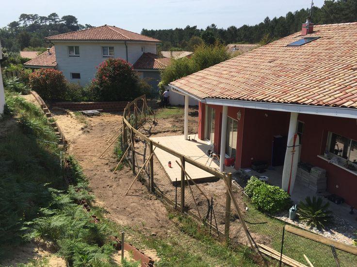 Réalisation d\u0027une clôture brise vue et terrasse bois à Labenne
