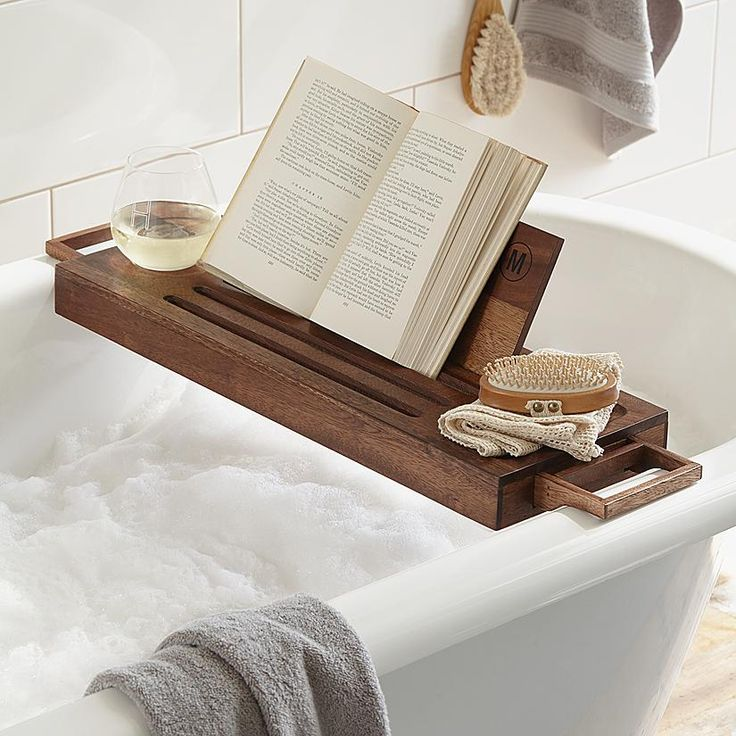 personalized bath caddy from RedEnvelope.com This would be nice in my soaker tub!