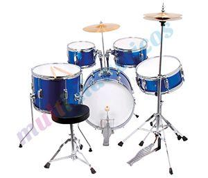 Toque como los profesionales con esta maravillosa batería pintada en azul metalizado. Batería adaptada para los más pequeños. #Musica #Infantil #Primaria http://www.multididacticos.com