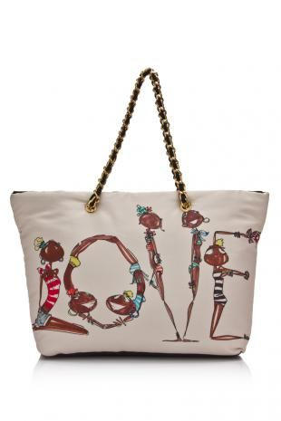 Love Moschino Printed Fabric Shoulder Bag