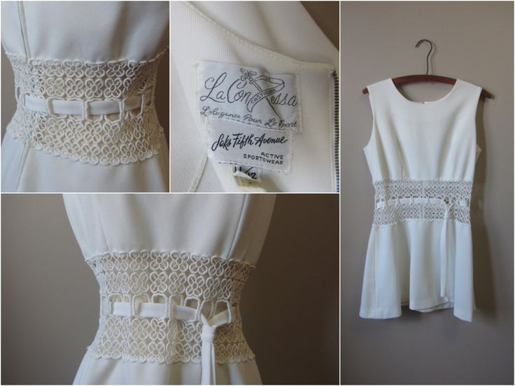 1960s Saks Fifth Avenue white cutout lace mini by GildedGypsies