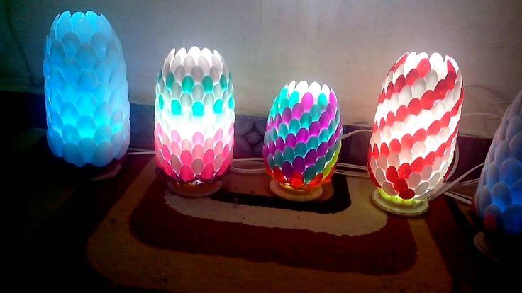 Cara Membuat Lampu Hias Nanas Dari Sendok Plastik