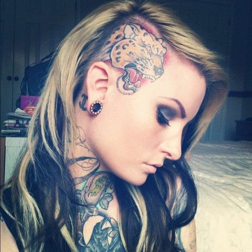 pattern in shaved hair woman   Half-Shaved Head – the Hot Hairstyle ...