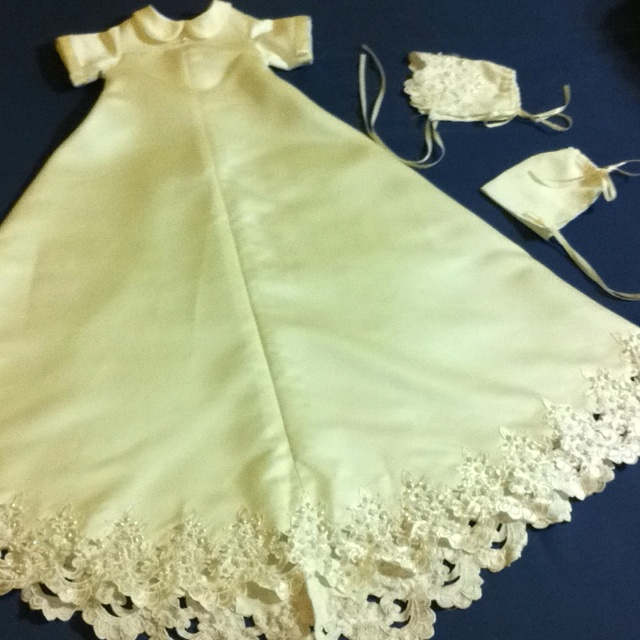 how to make a christening gown from a wedding dress