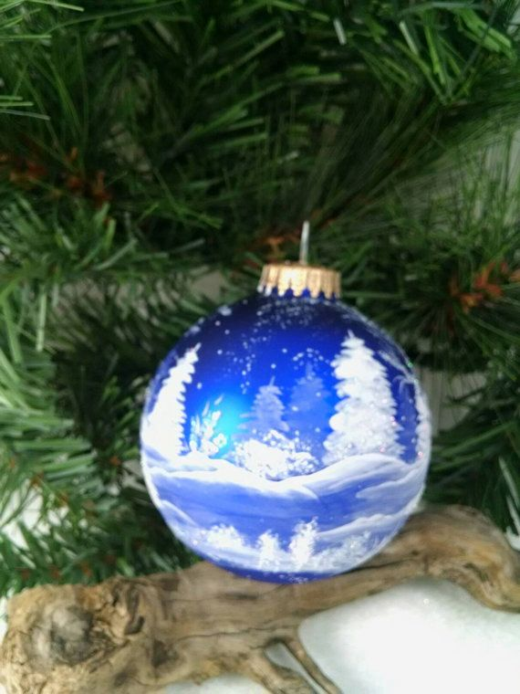 Royal Blue Christmas Ornaments Part - 49: Winter SceneBlue Winter Trees And Snow Royal Blue Bulb All. Blue  ChristmasChristmas BallsMerry ...