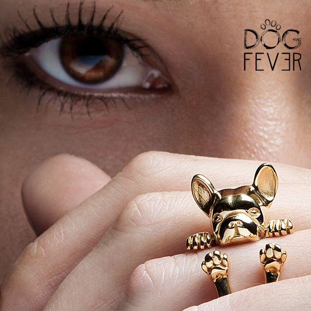 FRENCHIE HUG RING #frenchie #frenchbulldog #gold #jewels #precious