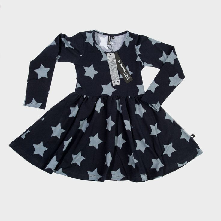 Kids' black dress with stars