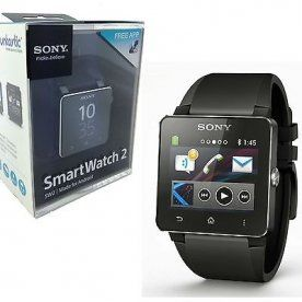Sony SW2 SmartWatch 2 Bluetooth Water Resistant Android Black Silicon Wristband