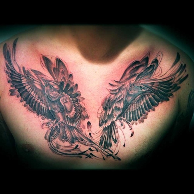 1000 ideas about chest piece tattoos on pinterest for Gilded heart tattoo