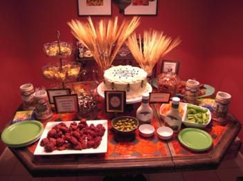 beer party theme ideas   The spread of bar-friendly, beer bash-approved dishes.