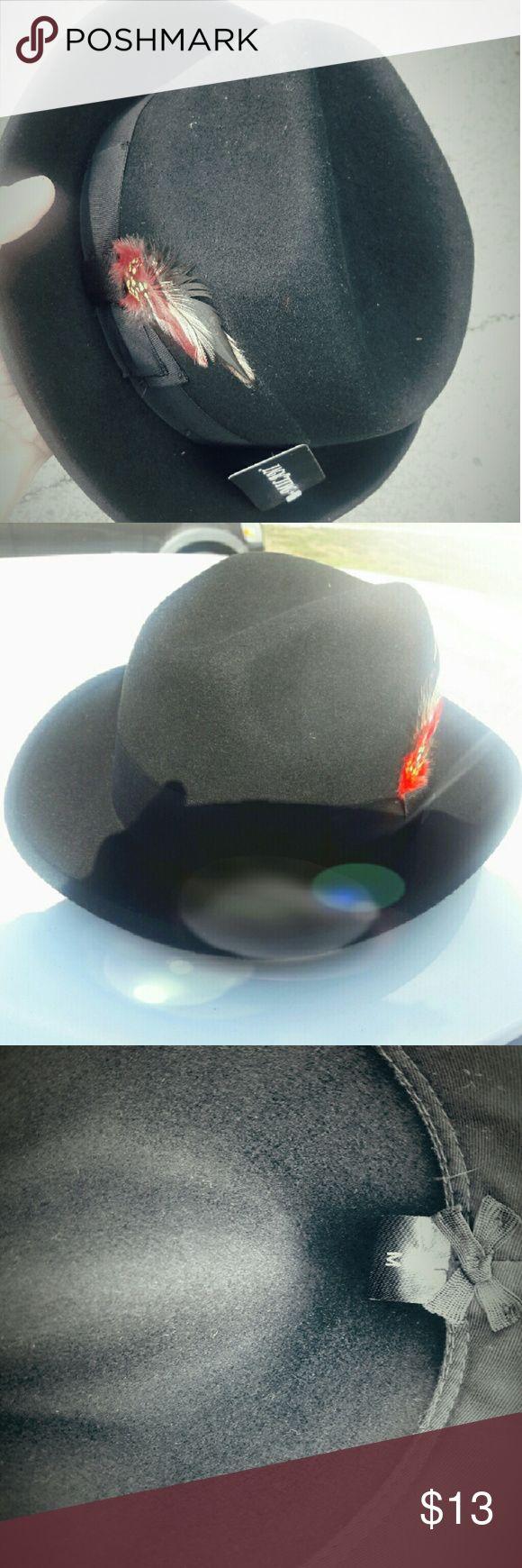 FEDORA HAT MILANI Old school   Black wool   mens FEDORA hat  Size: medium  56cm Milani Accessories Hats