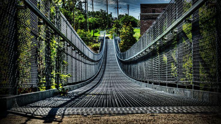 The Ranney Gorge Suspension Bridge in Campbellford.