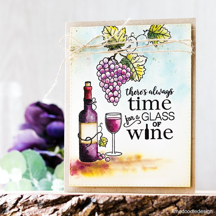 Time For A Glass Of Wine! Find out more about this card by clicking on the following link: http://limedoodledesign.com/2016/09/theres-always-time-for-a-glass/
