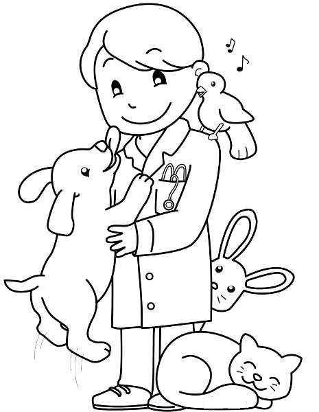 Veteriner Meslekler Jobs Coloring Pages Coloring Pages For