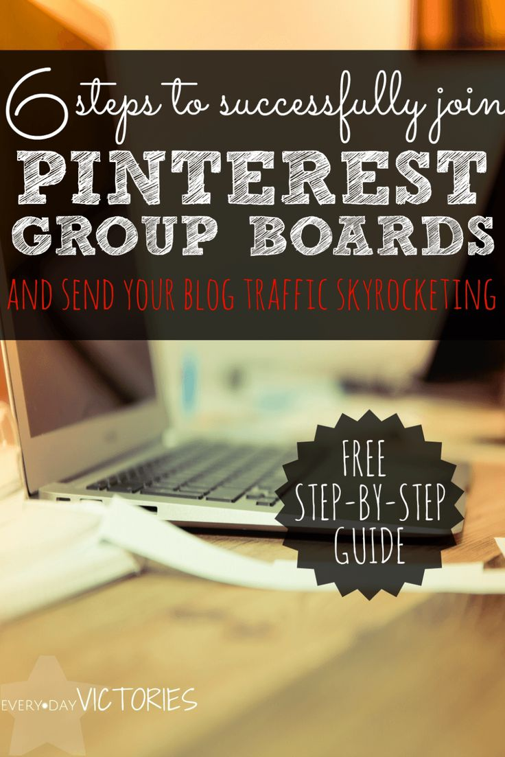 Magic! I instantly began to join Pinterest group boards and my blog traffic grew with these simple steps. The free guide helped me stay organized and increased my group board invitations.