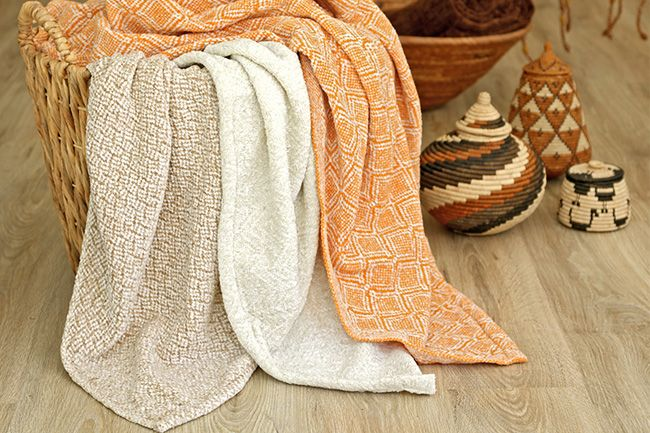 new range of sesli chenille throws that will compliment your  colour style