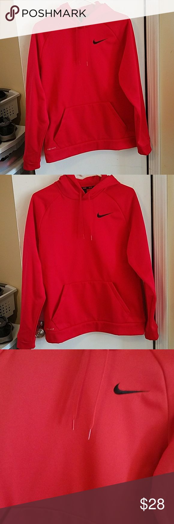 Red nike hoodie men Perfect condition red men nike hoodie negotiable Nike Shirts