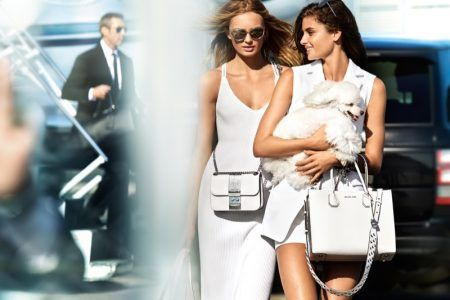 Taylor Hill & Romee Strijd Are Jet Setters in MICHAEL Michael Kors Spring 2017 Campaign by Fashion Gone Rogue  #Campaign, #Fashion, #Moda, #RomeeStrijd, #TaylorHill