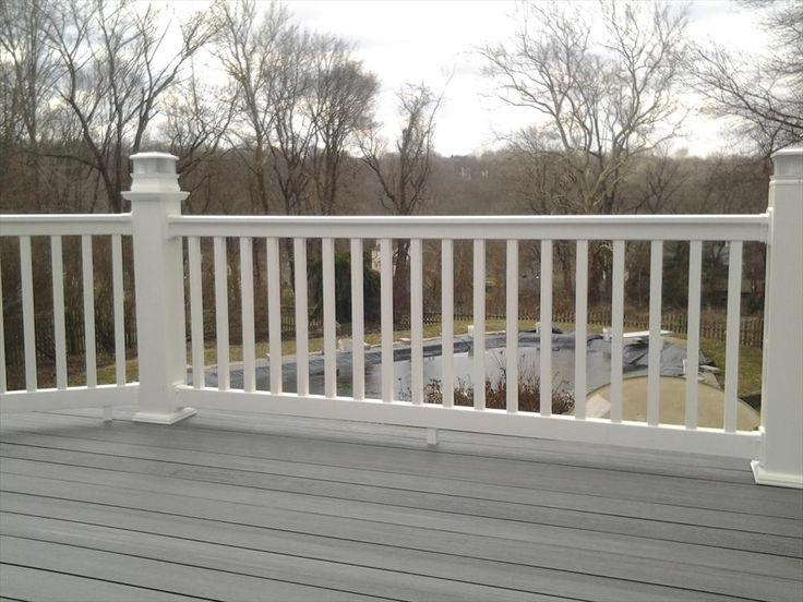 BuildDirect U2013 Vinyl Deck Railing System U2013 White   Outdoor View