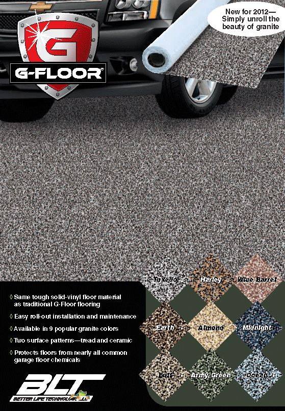GraniteSpek looks like granite or epoxy but its a roll out garage floor