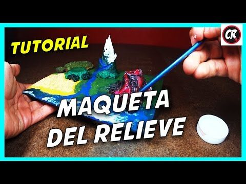 CÓMO HACER MAQUETA DEL RELIEVE Y ECOSISTEMAS   Proyecto escolar en porcelana fría   Plastilina - YouTube