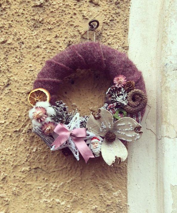 Christmas wreath #diy #handmade #naturalwreath #doityourself #doorwreath #hydrangea #love #passion
