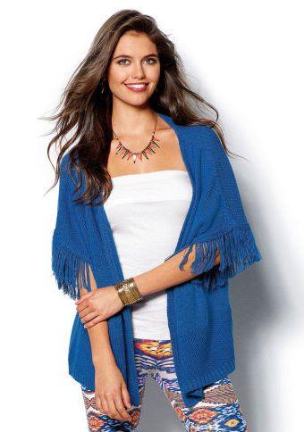 Pončo kardigan s třásněmi #ModinoCZ #ponco #autumn #fall #fashion #moda #comfortable #trend #styl