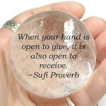 Inspirational Quote of the Day Pictured is a Clear Quartz Sphere: Code HCPIN10 = 10% off