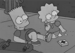 Bart and Lisa gif