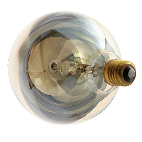 Gold globe lightbulb