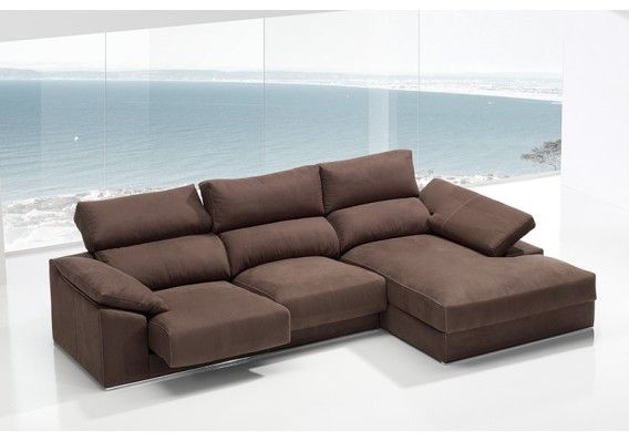 #Sofá con asientos deslizantes de espuma #viscoelástica y brazo reclinable. / #Sofà amb seients lliscants d'escuma #viscoelàstica i braç reclinable.