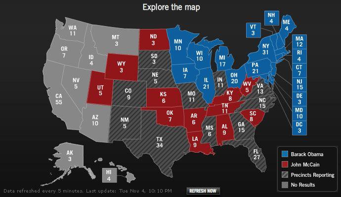 Yahoo! 2008 Election Map