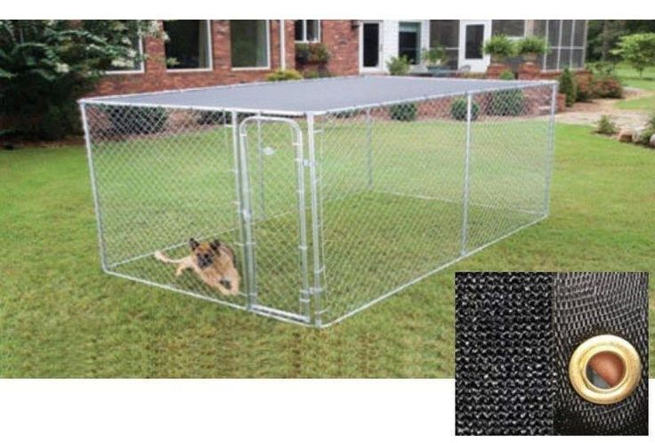 Backyard Dog Kennel Outdoor Pet Pen Chain Link Fence House Large Cage 5'x10'x4' in Pet Supplies, Dog Supplies, Cages & Crates | eBay