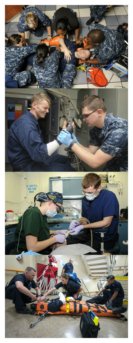 Navy Hospital Corpsmen have a pretty awesome job. They get to provide treatment for thousands of Sailors and Marines, assist Navy Physicians and Dentists, and specialize in areas such as radiology, preventive medicine, or optical. Learn more about how to become a Hospital Corpsman in the Navy. #AmericasNavy #USNavy #Navy navy.com