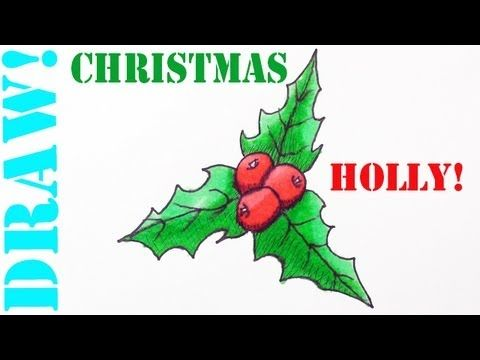 Learn to draw an Easy Christmas Holly! It's fun and easy to draw.