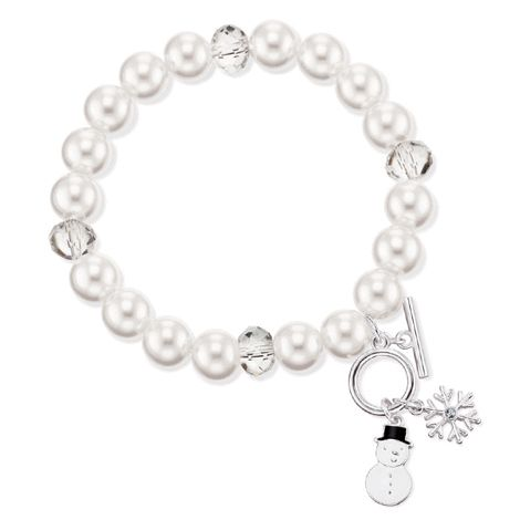 This sweet stretch bracelet is adorned with winter-themed silvertone charms and beads. One size fits most wrists. #charms #bracelet #winter #christmas #Avon #hiver #Noël #cadeau #fillette #gift #girl http://bit.ly/1GB6X17