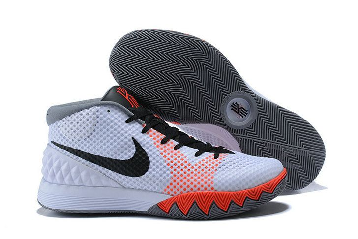 best sneakers e5c40 bbdc0 Really Cheap 2018 Mens Nike Kyrie 1 White Dove Grey Infrared Black Sneakers