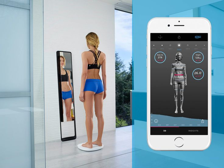 The Naked 3D Fitness Tracker is the first home body scanner for fitness. Naked captures your 3D body model, measurements, body fat %, and weight, all trackable over time.