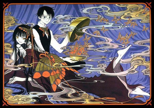 Tags: Anime, xxxHOLiC, Ichihara Yuuko, Watanuki Kimihiro, Vest, Curtain, Incense