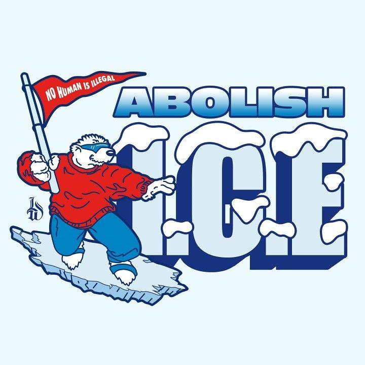 Abolish I C E Nostalgic Icee Bear Prismatic Sticker Etsy Icee Polar Bear Cute Stickers Protest Art