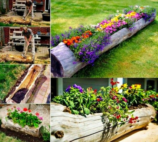 best 25 log planter ideas on pinterest diy yard decor yard decorations and yard
