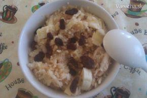 Sladký kuskus s jablkami a banánom - Recept
