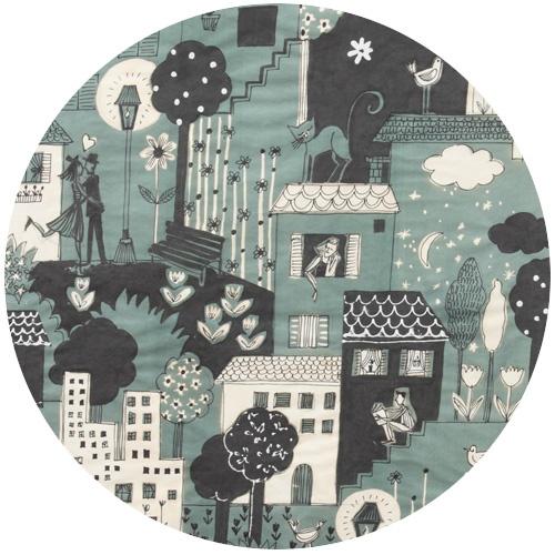 Love city smoke by Alexander Henry #fabric