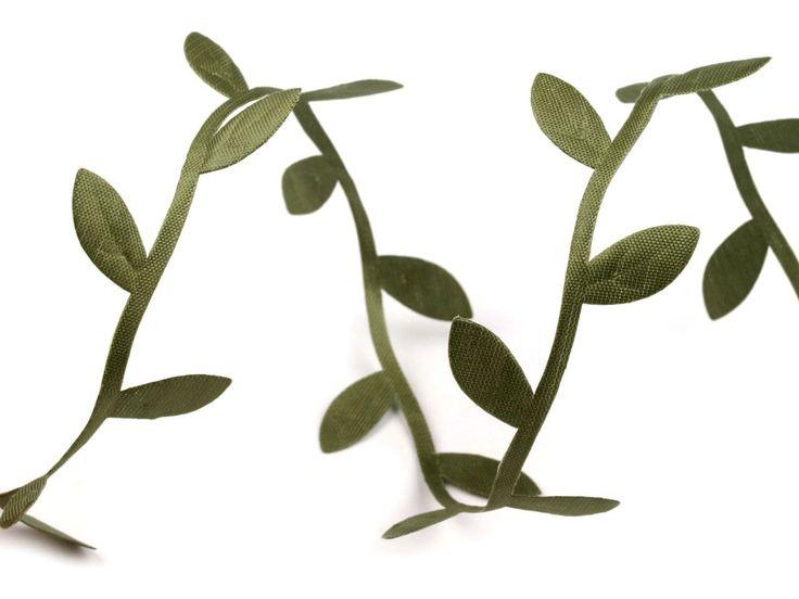 3 M Galon guirlande de feuilles en satin vert : Déco, Customisation Textile par my-chic-mercerie